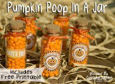 How To Make Pumpkin Poop In A Jar #halloween #crafts #poopgifts