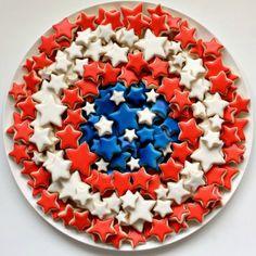 patriotic cookies, patriot cooki, cooki platter, cookie cutters, parti