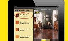 Pick the room, pick the color, pick the floor & see how it looks with the Floor Finder App!