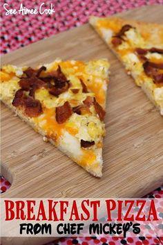 Breakfast Pizza from Chef Mickey's at Walt Disney World