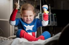 When he's inpatient, St. Jude patient Slade stays brave by conjuring up his inner-Superhero. #GiveHope