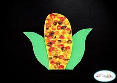 thumbprint indian corn #fall #craft