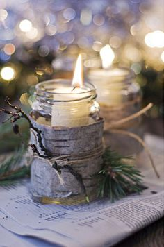 Try bark-wrapped candle jars
