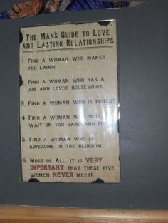 Mans Guide To Love And Long Lasting Relationships
