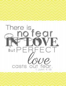 There is no fear in love... FREE Printable