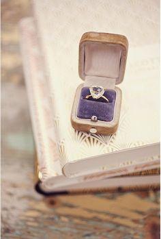 Ebury Ring on plush purple velvet