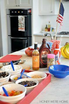 Ice Cream party set up