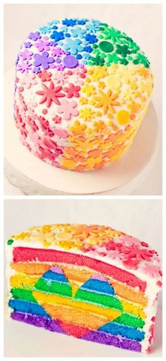 rainbow cake - that must have taken some time!