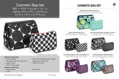 New prints! Cosmetic Bag Set Available Sept 1, 2013