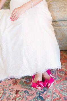 hot pink heels! | Annabella Charles #wedding