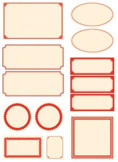 downloadable red labels. #free #printables #design #labels #home #kitchen #decor #decorating