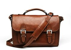 ONA: The Brooklyn premium leather camera satchel in Chestnut $309