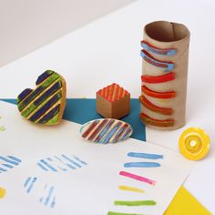 Rubber Band Stamps - submitted to Inspiration DIY by Crafts By Amanda