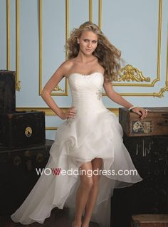 high low wedding dress :)
