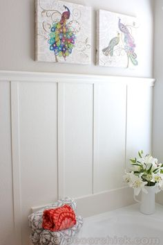 Bathroom Makeover With Board and Batten