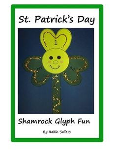 Shamrock glyph for St. Patrick's Day--Glyphs are fun ways to display data in a visual way. Each one of your students will answer questions and cr... TpT