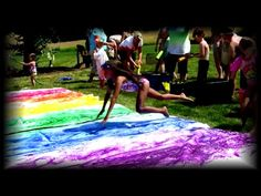 "HOW TO make a PAINT SLIP n' SLIDE - by Mr. Otter Art Studio.   We showed you the world's biggest paint slip n' slide, now we're going to tell you how to do your own in the free art tutorial by Mr. Otter Art Studio.   CLICK HERE to watch ""The World's Biggest PAINT Slip n' Slide"": http://youtu.be/hKtpZ88w9wQ"