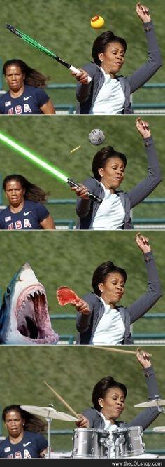 Photoshop level: Michelle Obama