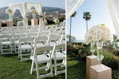 8 Ritz Carlton Laguna Niguel Wedding Ceremony White Flowers