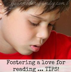 Tips for every age to foster a love of reading…