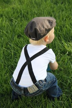 Suspenders for little boys, cute!