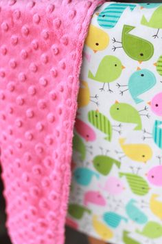Ready to Ship Baby chicks blanket 20 by 24 backed by KenzieandCo