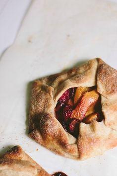 Cherry & Peach Galettes via The Vanilla Bean Blog