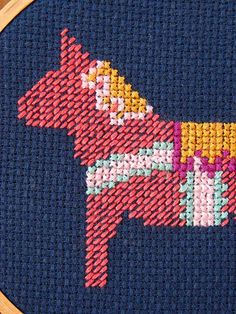 #pink #horse #embroidery