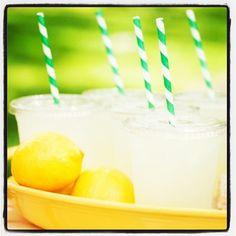Fresh Lemonade for a hot summer day! #summer #lemonade
