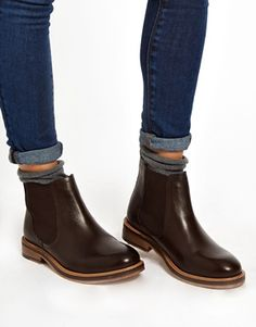 ACTIVITY Leather Chelsea Ankle Boots