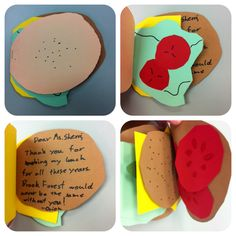 Why not make your School Lunch Superhero a hamburger card like this ingenious student did?