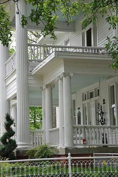 Ionic Columns & Southern Porches southern plantations, southern style, dream homes, southern porches, column, plantation homes, southern homes, hous, front porches
