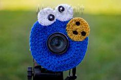 Cookie Monster Lens Buddy, Lens Accesory, Shutter Helper, Smile Generator for Photo Props.