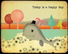 happy little whale