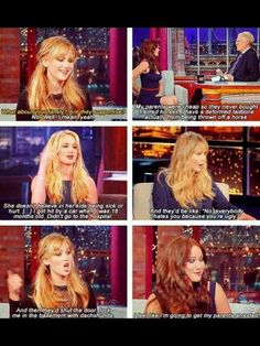 Jennifer Lawrence. Like just about everyone, I have fallen for her.