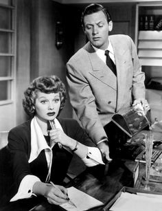 """""""Miss Grant Takes Richmond"""" with Lucille Ball and William Holden hahaha such a good movie!"""