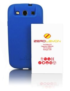 [180 days warranty] ZeroLemon Samsung Galaxy S III 7000mAh Extended Battery + Free Blue Extended TPU Full Edge Protection... for only $33.99
