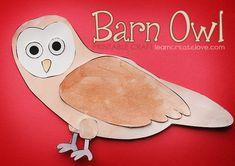 { Printable Barn Owl Craft } FREE