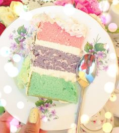 The most beautiful pastel cake at the most beautiful tea party: