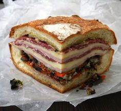"NEW ORLEANS Famous ""Central Grocery"" Original Muffuletta Recipe - Saveur.com"