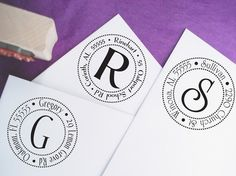 cute address stamps  purplemondesigns on etsy