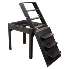 """Mid Century """"Convertible"""" Table and Step-Ladder by James Mont"""