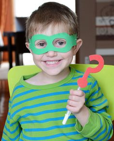 Make Wyatt's mask and Why Writer for some fun dramatic Super WHY! inspired play. So easy.