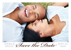 Save the Date Card with photo - Love Is
