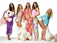 Straight Up Glam: 100 Girly Things To Do: Week Three: Have a PJ Party!  Invite a bunch of your friends to a PJ party, but in advance, find out everyone's sizes, and get your guests to go out and buy PJs for one another! When they arrive, they get the PJs someone bought for them! Watch movies, read magazines, have some drinks... This is basically a girl's night in but with a fun theme!