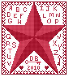 "By The Bay Needleart: ""Free Chart"" *Star Sampler*"