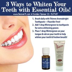 Young Living Essential Oils: Wintergreen to Whiten Teeth