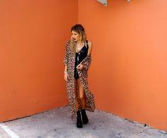Leopard Kimono