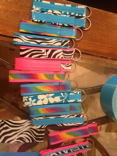 Keychains - duck tape - who knew???