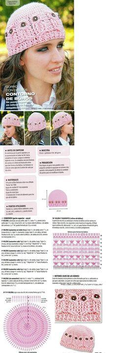 owl crochet beanie ... #inspiration #crochet  #knit #diy GB  http://www.pinterest.com/gigibrazil/boards/